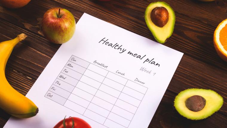 健康な食事をする計画